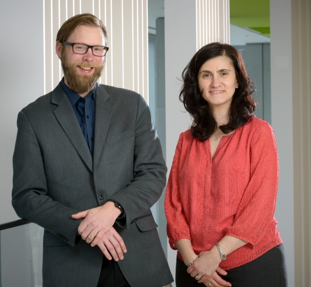 Jeffrey Schweitzer, PhD, and Angelina Rodner, PhD, oversee the Body Mind Wellness Group for people with cancer. (PHOTO BY ROBERT MESCAVAGE)