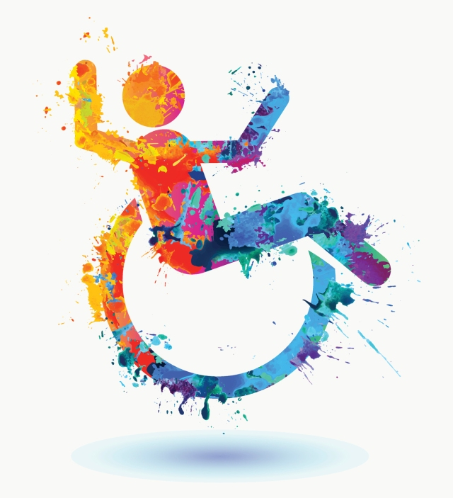 disability illustration of person in wheelchair
