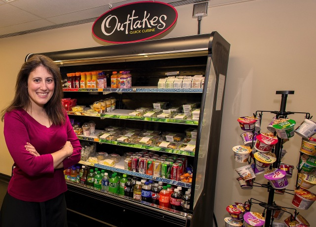 Nicole Cifra, MD, shown in an Upstate cafeteria, is concerned with how may young women have unhealthy eating practices. (PHOTO BY WILLIAM MUELLER)