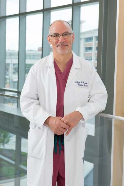 Jeffrey Bogart, MD, Upstate chair of radiation oncology. (PHOTO BY SUSAN KAHN)