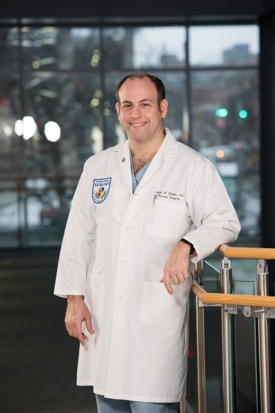 Jason Wallen, MD, Upstate chief of thoracic surgery. (PHOTO BY SUSAN KAHN)