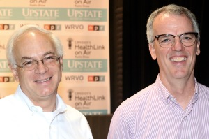 Robert Olick, JD, PhD, left, and Thomas Curran, MD