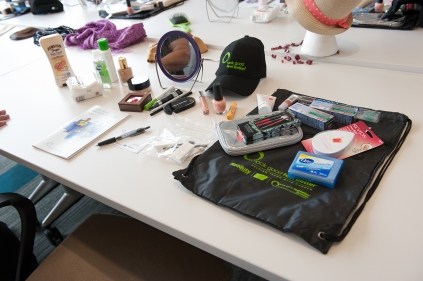 """At the """"Look Good Feel Better"""" program, each cancer patient receives a goody bag filled with cosmetics and health care products donated by companies such as Smashbox, Revlon and Colgate. (PHOTO BY SUSAN KAHN)"""