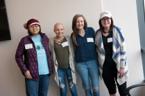 """Upstate's first """"Look Good Feel Better"""" program for teens attracted cancer patients, from left, Julia Nguyen, 16, of Camillus; Taylor Way, 15, of Cuyler; Amanda Wilson, 16, of Tully; and Artesia Gjoncari, 20, of Syracuse. (PHOTO BY SUSAN KAHN)"""