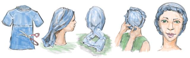 Creating a turban