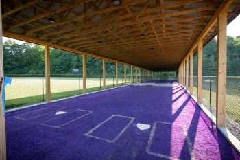 When Make-A-Wish Central New York asked Jack what he wished for, he wanted to give something back to his school. The result was this bullpen and batting cage, which debuted in 2016 at the CBA baseball field.