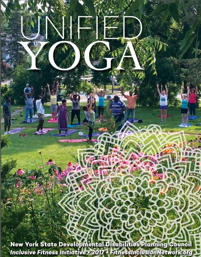 The downloadable booklet on yoga for people with a range of developmental disabilities.