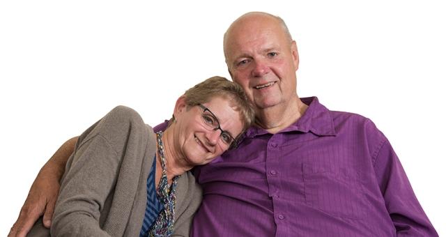 Pat Graham and his wife, Margery Lipinski-Graham, a year after his life-saving surgeries. (photoby Susan Kahn)