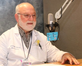 """Genetic home testing cannot tell you that you will develop a particular disease but can identify factors that tell you that your risk is higher than that of the general population,"""" says Robert Roger Lebel, MD, director of medical genetics at Upstate. (photo by Jim Howe)"""