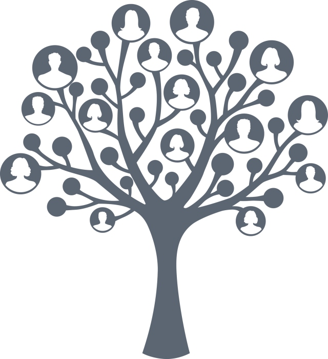illustration of a generic family tree