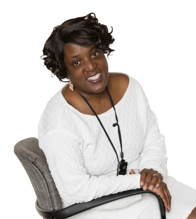 Social worker Chevelle Jones-Moore (photo by Susan Kahn)