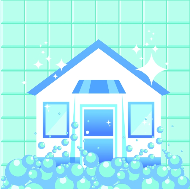 house with bubbles