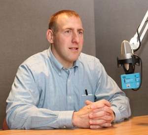 "Ear, nose and throat specialist Jesse Ryan, MD, was interviewed about jaw reconstructions on Upstate's ""HealthLink on Air,"" a podcast/radio show that airs on Sundays at 6 a.m. and 9 p.m.on WRVO radio. Hear his interview at healthlinkonair.org by searching for ""Jesse Ryan."" (photo by Jim Howe)"