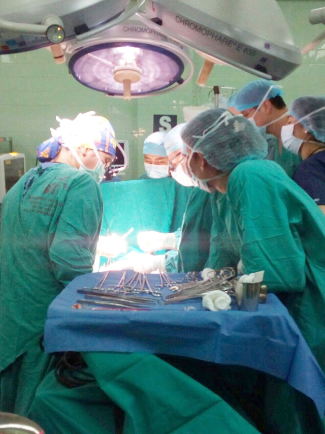 The team completed 10 complex heart surgeries in five days.