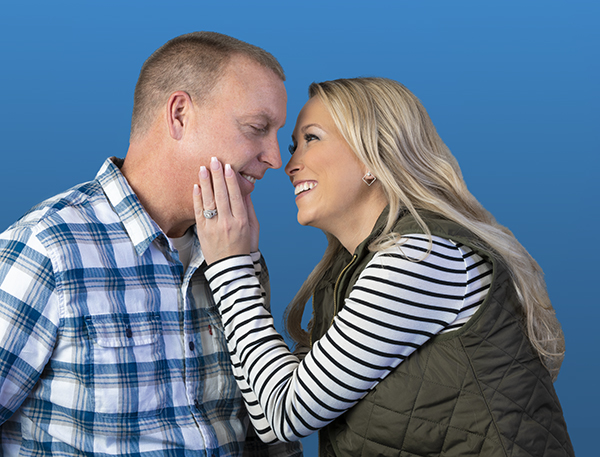Brittnee Farmer and her fiance, Brian Cooney, are grateful for the dramatic improvement in her health, thanks to three pills a day. (photos by Robert Mescavage)