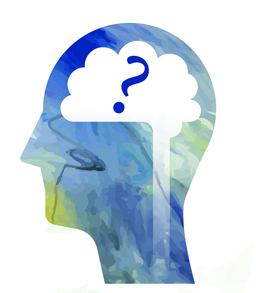 image of head with question mark